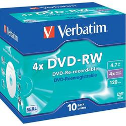 Диск DVD-RW Verbatim 4.7Gb 4x Jewel Case (10шт) (43486)