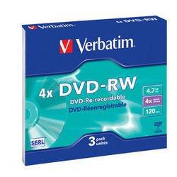 ���� DVD-RW Verbatim 4.7Gb 4x Slim Case (3��) (43635)