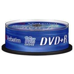 ���� DVD+R Verbatim 4.7Gb 16x Cake Box (25��) (43500)