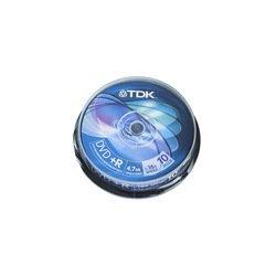 ���� TDK DVD+R 4.7Gb 16x Cake Box (10 ��) (t19442) (DVD+R47CBED10)