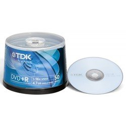Диск TDK DVD+R 4.7Gb 16x Cake Box (50 шт) (t19444) (DVD+R47CBED50)