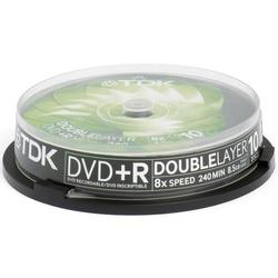 Диск TDK DVD+R DL 8.5Gb 8x Cake Box (10 шт) (t19924)