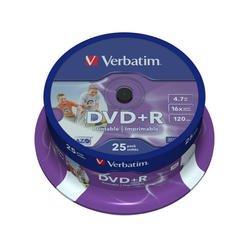 ���� DVD+R Verbatim 4.7Gb 16x Cake Box Printable (25��) (43539)