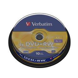 ���� DVD+RW Verbatim 4.7Gb 4x Cake Box (10��) (43488)