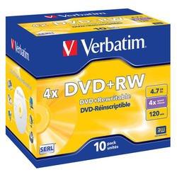 ���� DVD+RW Verbatim 4.7Gb 4x Jewel Case (10��) (43246)