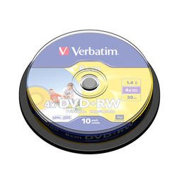 Диск DVD+RW Verbatim 1.46Gb 4x 8cm Cake Box Photo Printable (10шт) (43641)