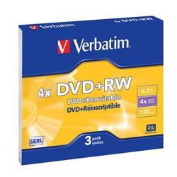 ����� DVD+RW Verbatim 4.7Gb 4x Slim Case (3��) (43636)