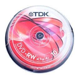 Диск DVD-RW TDK 4.7Gb 4x Cake Box (10 шт) (t19525)