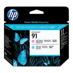 Печатающие головки для HP Designjet Z6100 (C9462A №91) (светло-пурпурный, светло-голубой) (130 мл)