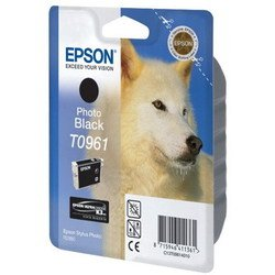 картридж для epson stylus photo r2880 (c13t09614010 №t0961) (черный)