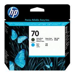 Печатающие головки для HP DesignJet Z2100, Z3100, Z3200, PhotoSmart Pro B8850, B9180 (C9404A №70) (матовый черный, голубой)