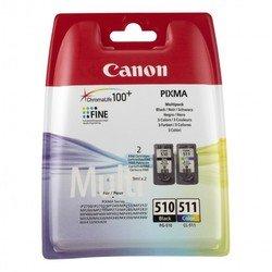 Набор картриджей для Canon PIXMA MP230, MP240, MP250, MP252, MP260, MP270, MP272, MP280, MP282, MP490, MP492, MP495, MX320, MX330, MX340, MX350, MX360, MX410, MX420, iP2700 (2970B010 PG-510, CL-511) (черный, цветной)