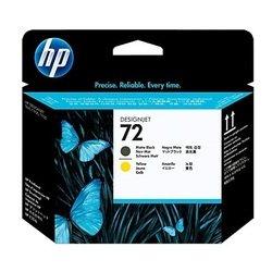 Печатающая головка для HP Designjet T1100, T1100ps, T610, T1120, T1200, T1120ps, T1300, T2300, T620, T770 (C9384A №72) (матовый черный, желтый)