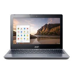"ноутбук acer c-series c720-29552g01aii celeron 2955u/2gb/16gb ssd/int/11.6\\\""/hd/mat/1366x768/chrome/grey/4c/wifi/cam"