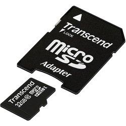 Transcend TS32GUSDHC10 microSDHC 32GB + SD адаптер (32 Гб)