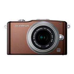 "photocamera olympus pen e-pm1 kit brown 12.3mpix ez-m 14-42 /40-105 3\\"" 1080i sdhc ком-т с объективаммиli-ion"