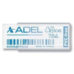 Ластик Adel Office 227-0786-000 50х19.5х10мм прозрачный пластиковый чехол