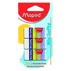 Ластик Maped Softy Mini мягкий малый в картонном футляре 2+1 шт