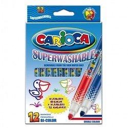 Фломастеры Universal CARIOCA BI-COLOR 42265 двухцветные (12 шт./24 цвета)
