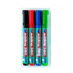 Набор маркеров для флипчартов Edding E380/4S круглый пиш. наконечник 1,5-3мм 4 цв. (чер/син/кр/зел)