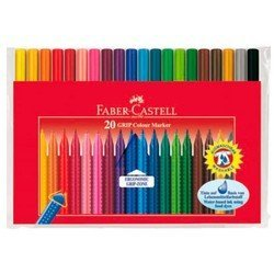 Фломастеры Faber-Castell Grip 155320 20 цветов в футляре