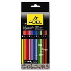 Карандаши цветные Adel (Blackline PB 211-2312-000) (12 цветов)