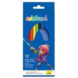 Карандаши цветные Adel 3мм (ADELAND 211-2315-100) (12 цветов)