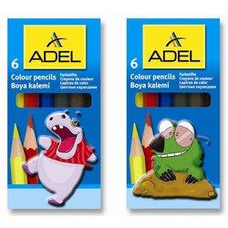 Карандаши цветные Adel 3мм (Colour 211-2335-000)  (6 цветов)