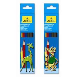 Карандаши цветные Adel 3мм (Colour 211-2345-007) (6 цветов)