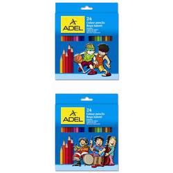 Карандаши цветные Adel 3мм (Colour 211-2365-007) (24 цвета)