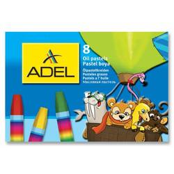 Мелки маслянной пастели Adel 428-0817-000 шестиугольные 8 цветов картонная коробка