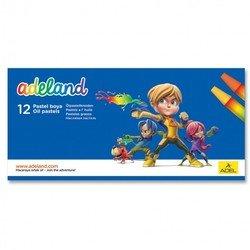 Мелки масляной пастели Adel ADELAND 428-0837-100 шестигранные 11,5мм 12 цветов картонная коробка
