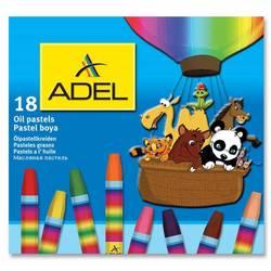 Мелки маслянной пастели Adel 428-0857-000 шестиугольные 18 цветов картонная коробка