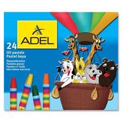 Мелки маслянной пастели Adel 428-0867-000 шестиугольные 24 цвета картонная коробка