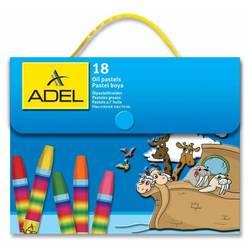 Мелки маслянной пастели Adel 428-1818-000 шестиугольные 18 цветов пластиковая сумочка
