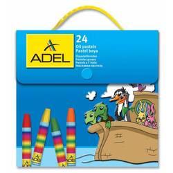 Мелки маслянной пастели Adel 428-1824-000 шестиугольные 24 цвета пластиковая сумочка