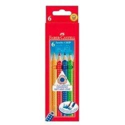 Карандаши цветные Faber-Castell Jumbo Grip 110906 в картонной коробке 6 цветов