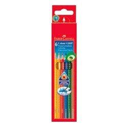 Карандаши цветные Faber-Castell Grip 2001 112406 в картонной коробке 6 цветов