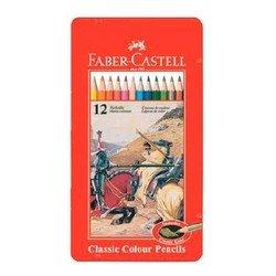 Карандаши цветные Faber-Castell Рыцарь 115844 в металлической коробке 12 цветов