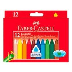 Карандаши восковые Faber-Castell Triangular 120010 трехгранные 12 цветов