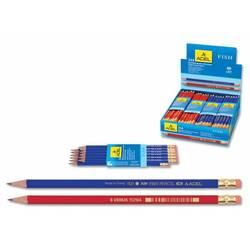 Карандаш чернографит. Adel FISH 202-1121-000 HB ластик цвет корпуса ассорти( красный/синий)