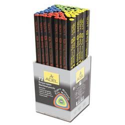 Карандаш чернографит. Adel Blackline TRIO 206-1130-634 HB черное дерево трехгранный