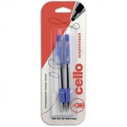 Ручка шариковая Cello GRIPPER 0,5мм черный/синий  (2шт)