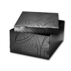 Пластиковый короб со съемной крышкой 345х265х155 мм (Бюрократ GALAXY GALBOXBLCK) (черный)