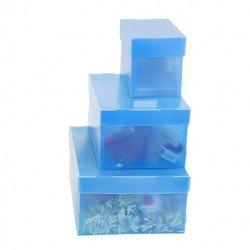 Пластиковый короб со съемной крышкой 345х265х155 мм (Бюрократ LPPBOXWT) (белый)