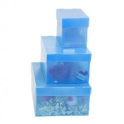 Пластиковый короб со съемной крышкой 300х215х155 мм (Бюрократ MPPBOXblue) (синий)