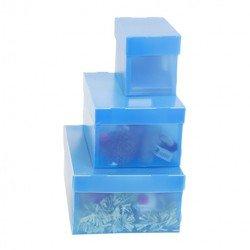 Пластиковый короб со съемной крышкой 210х130х150 мм (Бюрократ SPPBOXBLUE) (синий)