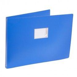 Папка на 4-х кольцах Бюрократ 0827GA3 (синий)