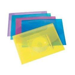 Папка-конверт на кнопке Rapesco 0705 Disk Popper Wallet карман для диска и держатель для ручки A4