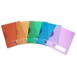 Папка с фигурным клипом Бюрократ CRYSTAL CR550 (фиолетовый)